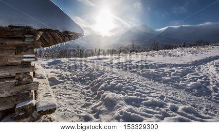 Winter Mountain Trail In Tatras At Sunrise, Poland