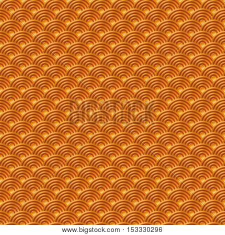 Chinese Orange Yellow Gold Seamless Pattern Dragon Fish Scales Simple Seamless Pattern Nature Backgr