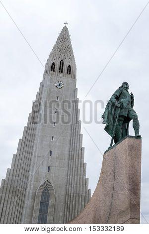 Iconic Lutheran Church In Reykjavik