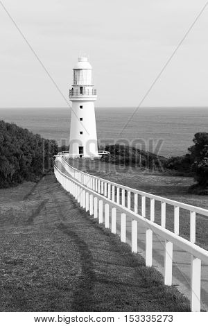 Lighthouse At Cape Otway By The Great Ocean Road