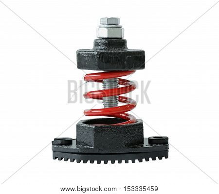 Vibration Damper isolated on white background Clipping Paths