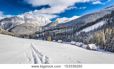 Tatra Valley At Sunrise In The Winter, Tatra Mountains, Poland