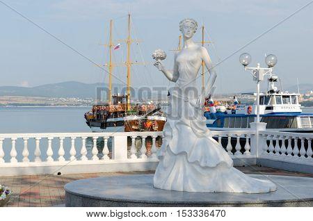 Gelendzhik, Krasnodar Krai, Russia - August 23, 2016. Sculpture