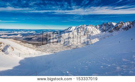 Winter View From The Summit Of Kasprowy Wierch, Tatra Mountains, Polska
