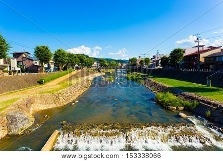 Takayama Miya-gawa River Gifu Prefecture Daytime H