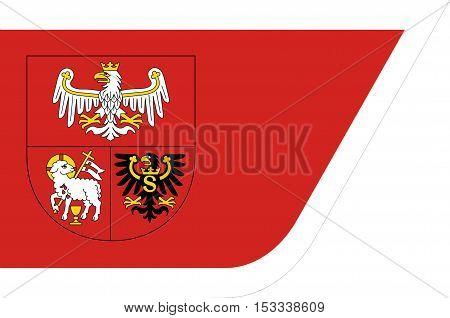 Flag of Warmian-Masurian Voivodeship or Warmia-Masuria Province in northeastern Poland