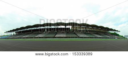 seats on the race track, Seats for spectators for racing cars