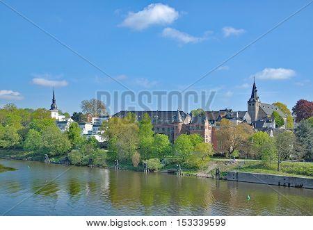Town of Kettwig at River Ruhr in Ruhrgebiet,North Rhine Westphalia,Germany