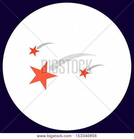 Stars Simple vector button. Illustration symbol. Color flat icon