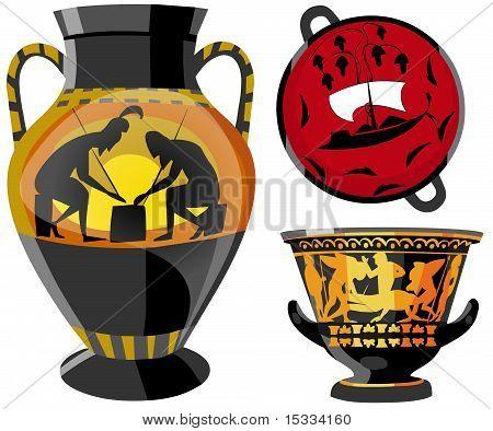 Ancient Greek earthenware.