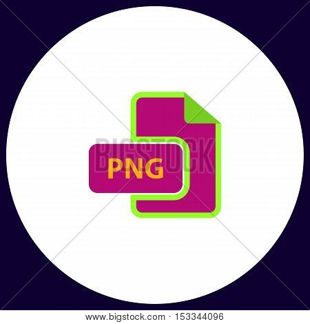 PNG Simple vector button. Illustration symbol. Color flat icon