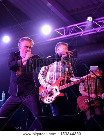 SOUTHAMPTON, UK, October 20 2016:   Irish band The Undertones performing their 40th anniversary tour  at the Engine Rooms, Southampton, Hampshire UK