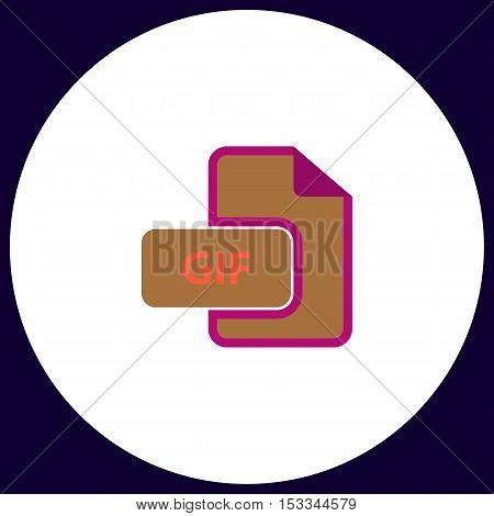 GIF Simple vector button. Illustration symbol. Color flat icon