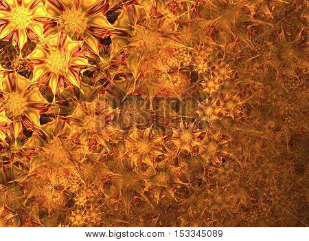 Abstract fractal flowers background computer generated image