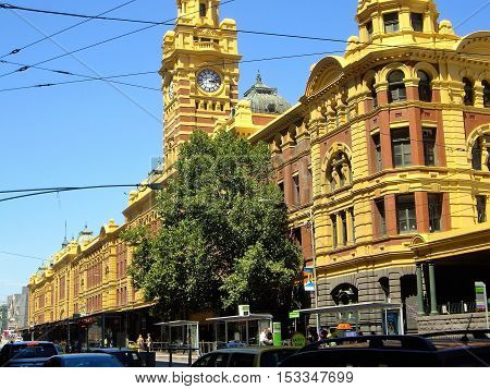 A side of the railway station Melbourne a good time to visit
