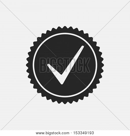 Check Mark Stamp Overlay Texture. Empty Design Template. EPS10 vector.