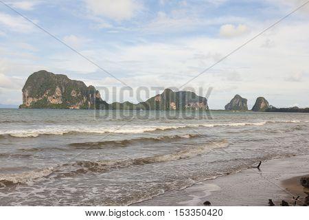 Beautiful Pak Meng Beach in Trang Thailand.