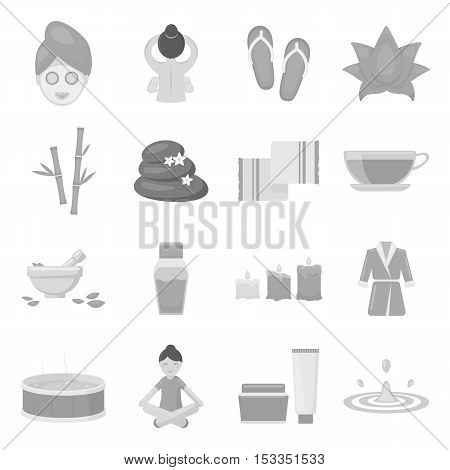 Spa set icons in monochrome style. Big collection of spa vector symbol stock