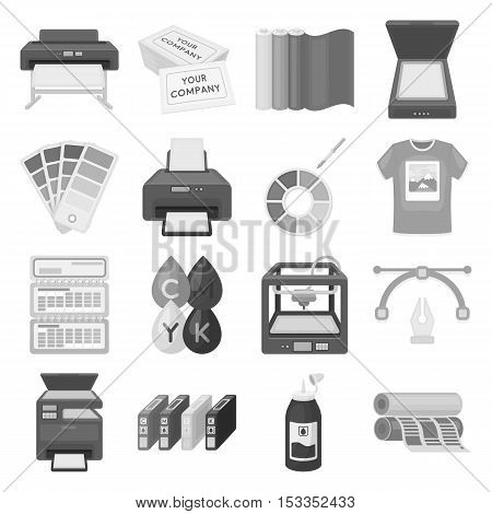 Typography set icons in monochrome style. Big collection of typography vector symbol stock