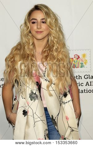 LOS ANGELES - OCT 23:  Chloe Lukasiak at the Elizabeth Glaser Pediatric AIDS Foundation A Time For Heroes Event at Smashbox Studios on October 23, 2016 in Culver City, CA