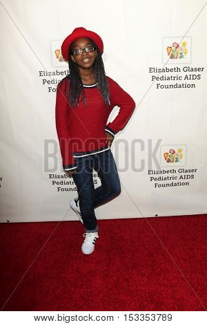 LOS ANGELES - OCT 23:  Marsai Martin at the Elizabeth Glaser Pediatric AIDS Foundation A Time For Heroes Event at Smashbox Studios on October 23, 2016 in Culver City, CA