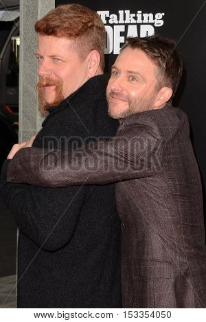LOS ANGELES - OCT 23:  Michael Cudlitz, Chris Hardwick at the AMC's Special Edition of