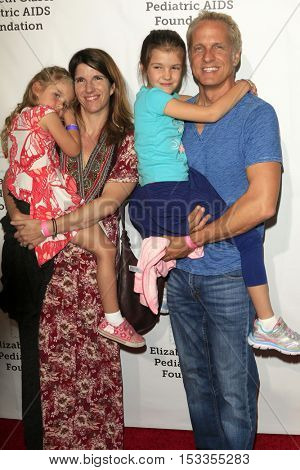 LOS ANGELES - OCT 23:  Patrick Fabian, family at the Elizabeth Glaser Pediatric AIDS Foundation A Time For Heroes Event at Smashbox Studios on October 23, 2016 in Culver City, CA