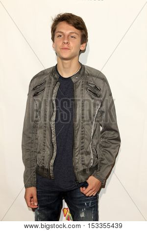 LOS ANGELES - OCT 23:  Jacob Bertrand at the Elizabeth Glaser Pediatric AIDS Foundation A Time For Heroes Event at Smashbox Studios on October 23, 2016 in Culver City, CA
