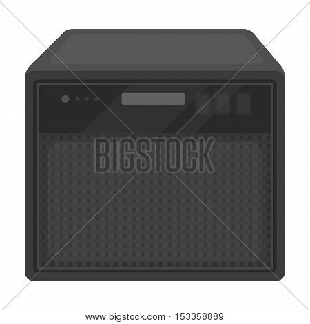 Guitar amplifier icon in monochrome style isolated on white background. Musical instruments symbol vector illustration