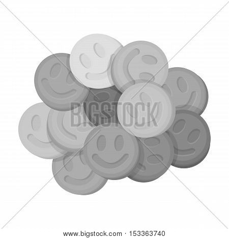 Ecstasy icon in monochrome style isolated on white background. Drugs symbol vector illustration. poster