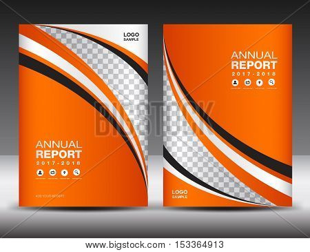 Orange Cover template ,cover annual report, cover design business brochure flyer, magazine cover, book cover template