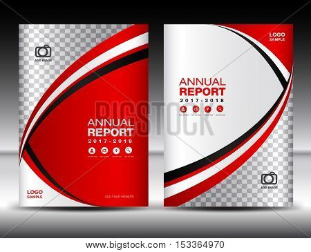 Red Cover template , cover annual report, cover design, business brochure flyer,  magazine covers, book cover, presentation