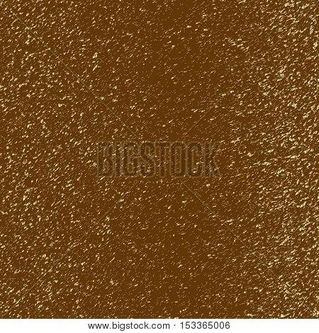 Gold flecks on a brown background. Vector illustration