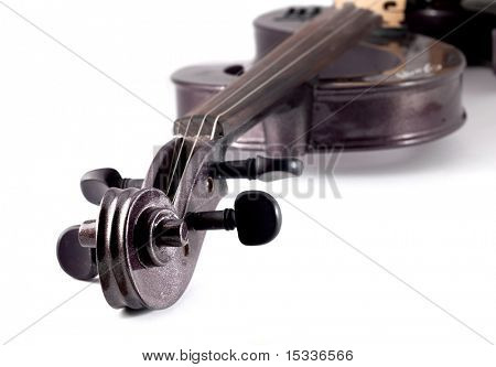 Electrical Violin isolated on white