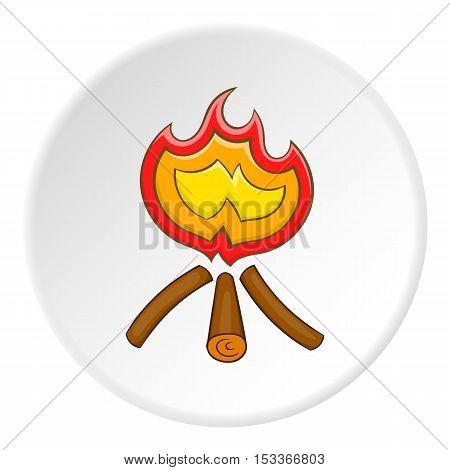 Burning bonfire icon. Cartoon illustration of burning bonfire vector icon for web