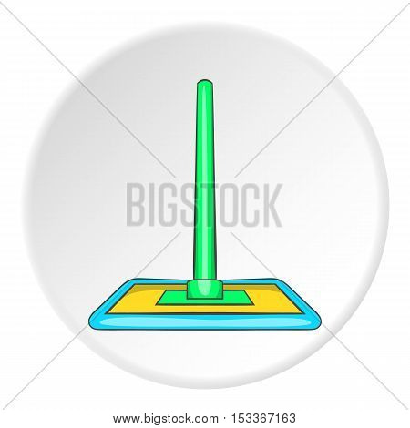 Floor cleaning mop icon. Cartoon illustration of floor cleaning mop vector icon for web
