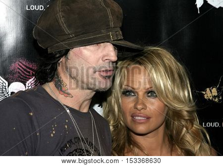 Tommy Lee and Pamela Anderson at the Rokbar Hollywood Grand Opening Party held at the Rokbar in Hollywood, USA on June 30, 2005.