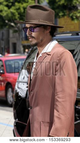 Johnny Depp at the Los Angeles premiere of 'Charlie and the Chocolate Factory' held at the Grauman's Chinese Theatre in Hollywood, USA on July 10, 2005.