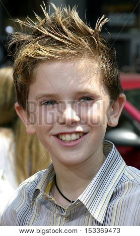 Freddie Highmore at the Los Angeles premiere of 'Charlie and the Chocolate Factory' held at the Grauman's Chinese Theatre in Hollywood, USA on July 10, 2005.