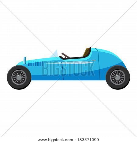 Blue sport car icon. Isometric 3d illustration of blue sport car side view vector icon for web