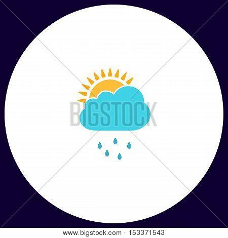 raindrops Simple vector button. Illustration symbol. Color flat icon