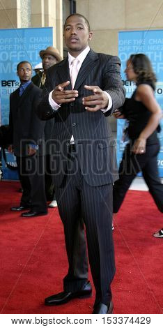 Nick Cannon at the 2005 BET Awards held at the Kodak Theater in Hollywood, USA on June 28, 2005.