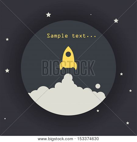 Rocket icon. Vector symbol of the flying missiles eps jpg