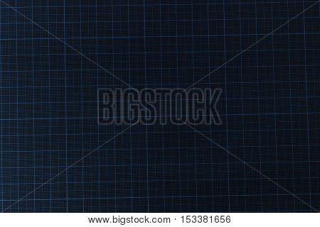 Seamless millimeter Graph black paper background .