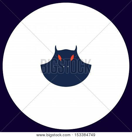 mask Simple vector button. Illustration symbol. Color flat icon