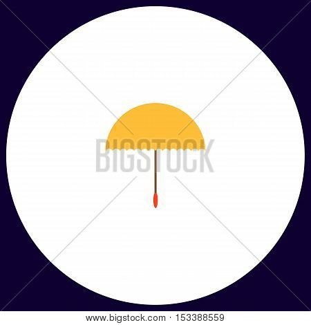 bumbershoot Simple vector button. Illustration symbol. Color flat icon