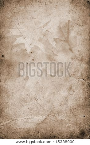 Old paper grunge autumn background