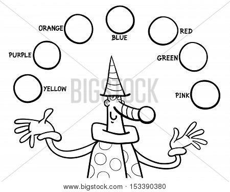 Main Colors Educational Coloring Task