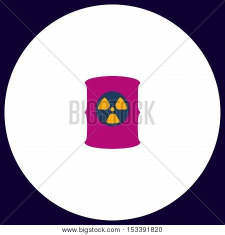 Radioactive waste Simple vector button. Illustration symbol. Color flat icon