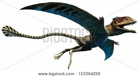 Peteinosaurus from the Triassic era 3D illustration